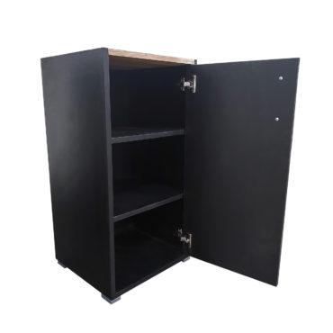 czarna biurowa szafka
